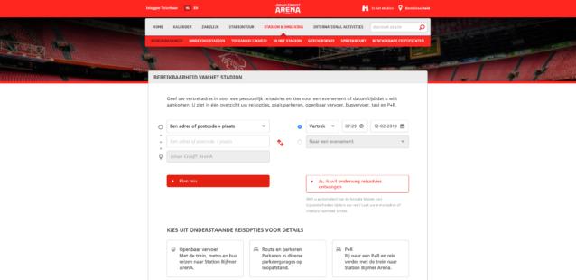 Mobility Portal Johan Cruijff Arena